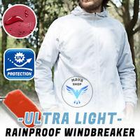 Men's Women Casual Jackets Windproof Ultra-Light Rainproof Windbreaker Top - USA