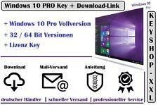 Windows 10 Pro * 32 / 64 Bit Vollversion | Win 10 Key Aktivierungsschlüssel Mail
