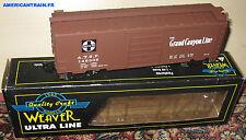 Wagon Box Car Santa Fe Grand Canyon 3 rails échelle O Weaver