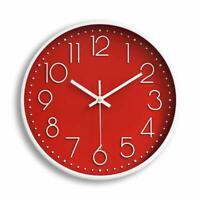 "12"" 30cm Fashion Wall Clock Black Large Digital Silent No Ticking Red US"