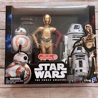 Star Wars Force Awakens C-3PO BB-8 RO-4LO Hasbro Disney Collectors Droid 3-Pack