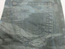 TRUE RELIGION MENS GENO RELAXED SLIM TIGER CAMO NO FLAP JEANS SIZE 38 NEW $228