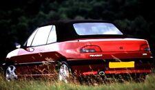 Peugeot 306 - Burgundy Mohair Hood With Plastic Rear Window