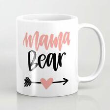 Mama Bear Handlettered Design Coffee Mug Funny White Coffee Mug 11Oz Gift new