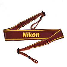 Nikon Camera Neck official Strap AN-6w Yellow Camera Strap Wide Made in JAPAN