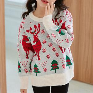 Kids Girl Boy Christmas Xmas Novelty Jumper Sweater Top Crochet Knitwear Costume