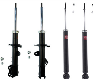 KYB 4 STRUTS SHOCKS fits NISSAN VERSA 07 08 09 2013 to 2014 332152 332153 348029