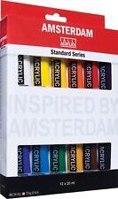 Amsterdam Acrílico Arte y Artesanía Pintura Serie Estándar Colores 12 x 20ml Set
