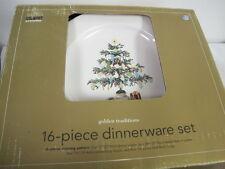MARTHA STEWART EVERYDAY CHRISTMAS MORNING DINNERWARE 16 PCS