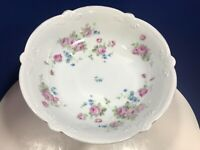 Vintage Flowered White Porcelain 8 inch Vegetable Bowl Made in Germany