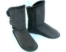 Women's Sheepskin Winter Boots Mid Calf Buckle Warm Australia Luxe Buckle 11M