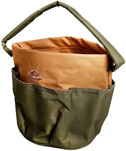 Esschert GT05 Design GT05 28 x 28 x 26cm Textile Garden Tools Bag - Green