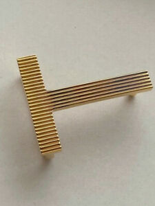 Rare TOM FORD Belt Buckle GOLD Striped