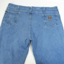 Carhartt Blue Jeans Men's Size 50x30 Baggy Relaxed Fit 100% Cotton