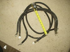 """Two 48"""" & Two 32"""" Belden 1 Awg Black Welding Copper Cables with terminals used"""