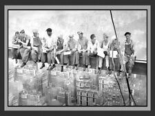 New York City Men Eating Lunch Atop of a Skyscraper Beam Famomous 8 x 10 Photo-2