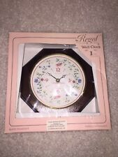 Vintage Regal Wall Clock Quartz Movement Floral - Summer Chintz By Johnson Bros