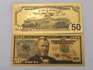 Banknote 💵 UNITED STATES 🇺🇸- Novelty Grant $50.00 Note #65