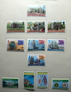 Virgin Is. Mint Collection 1976-1983, Scott #305-433, Nearly Complete