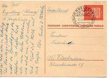Suiza Entero postal circulado año 1960 (DE-752)