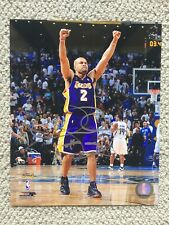 Derek Fisher Signed Autographed 8x10 Licensed Photo File Los Angeles Lakers NBA