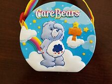 Care Bears 2004 Embossed Tin Hinged Little Girls Purse W/rainbow Strap EUC