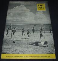 Werkzeitschrift Opel Post für Mitarbeiter Nr. 6 Stand Juni 1959!