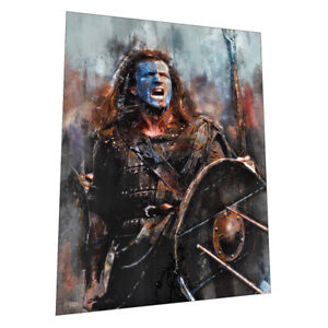 Battle Cry - Braveheart and William Wallace wall art poster - Size A2