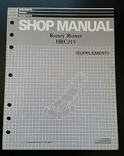 Honda HRC215 Rotary Mower Shop Manual Supplement