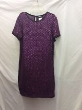 DKNY PURPLE SEQUINS DRESS WOMENS SIZE 10