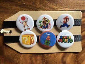 Super Mario Bros / Nintendo/ SNES - Pin Badge Set
