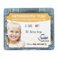 50sets/box Dental orthodontic 1st molar non-convertible mbt 022 Buccal tube