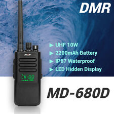 TYT MD-680D DMR UHF 400-470MHz IP67 10/5W Two way Radio Transceiver LED Display