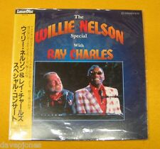 The WILLIE NELSON Special w/ RAY CHARLES Live Japanese Laserdisc w/obi