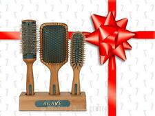 Bio Ionic Agave Healing Oil Natural Bamboo Hair Brushes - SET 3 Brushes