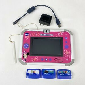 Vtech Innotab 3 S Disney Minnie Mouse Learning Handheld Game System 3 games