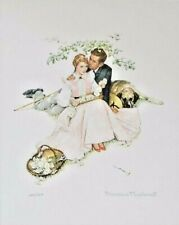 Norman Rockwell Flowers in Tender Bloom Lithograph