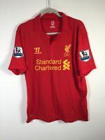 Liverpool Warrior #8 Gerrard 2012/2013 Football Home Jersey Shirt Mens Size L