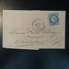 FRANCE CÉRÈS N°60 ON LETTER COVER GC 2777 PAMIERS FOR CHALABRE