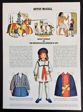 Betsy McCall Mag. Paper Doll, Betsy McCall at the Met. Museum of Art, March 1971