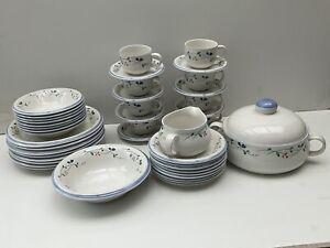 Allegro Stoneware Tableware Heatherside Dinner & Dessert Serving Set Of 43 Piece