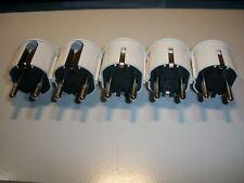 Winkel-Schukostecker (W8)  5 Stück, weiß 16 A 250 V