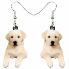 Yellow Labrador Retriever Puppy Dog Earrings ~ Nwt