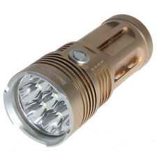 Gold Super Bright SecurityIng 8500LM 7x CREE XM-L T6 Waterproof LED Flashlight