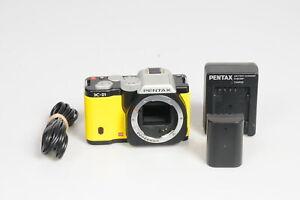 Pentax K-01 16MP Digital Mirrorless Camera Body Yellow #648