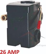 PRESSURE SWITCH CONTROL AIR COMPRESSOR 140-175 PSI 4 PORT HEAVY DUTY 26 AMP
