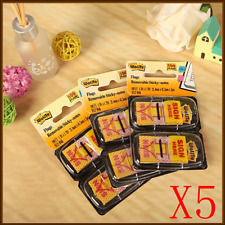 "5x""Sign Here"" ""Message Flags"" ""Sticky Flags"" 25mm Twin Pack 100 Removable Sticky"