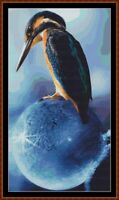 KINGFISHER PERCH cross stitch pattern PDF (point de croix)