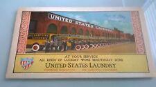1930 UNITED STATES LAUNDRY SAN FRANCISCO GRAPHIC ADVERTISING BLOTTER NOS TRUCKS