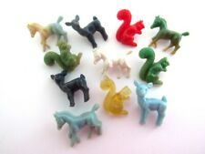 Vintage 1940s Lot of Animal Buttons Deer Squirrel Horse Realistic Novelty Goofie